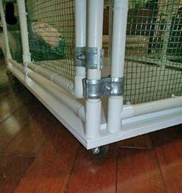 Sahja siamese and oriental cage plans pvc pipe cages for Pvc rabbit cage